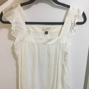 Universal thread cream tank top